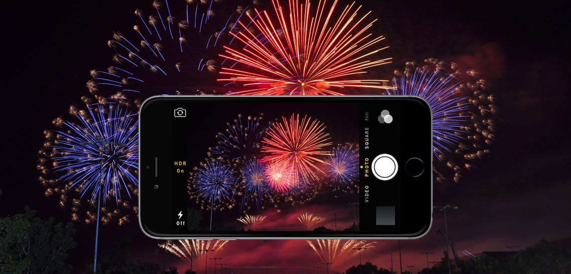 Better firework picture on your cell phone