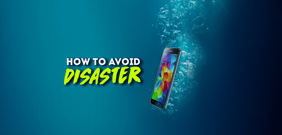 Prevent water damage on your phone