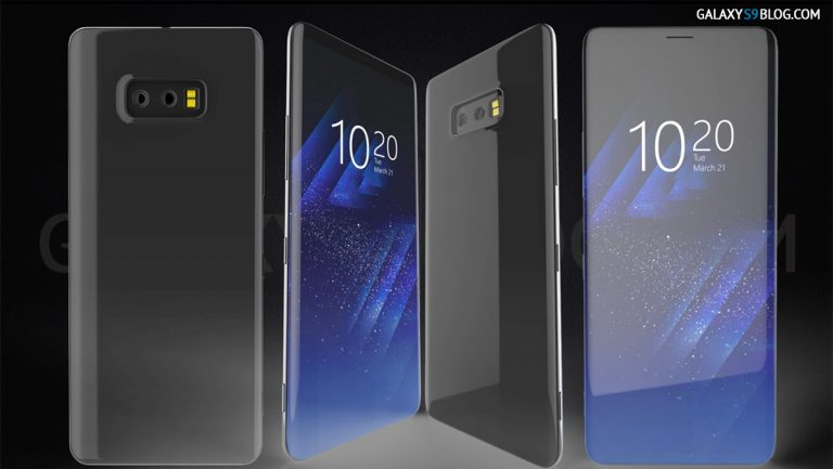 Samsung Galaxy S9 Concept Shows Entirely Bezel-Less Front Front and Interesting Features