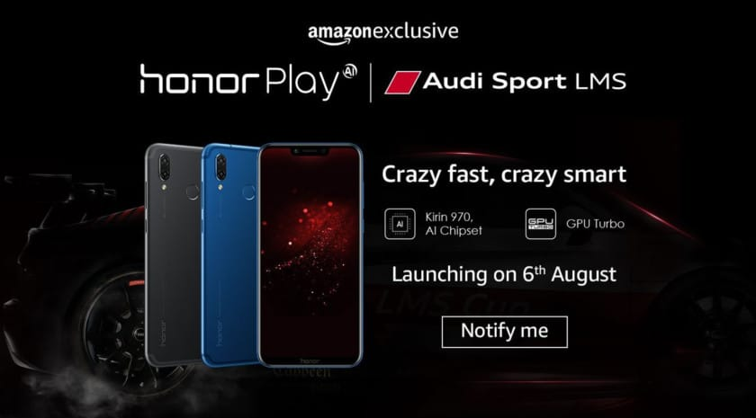 The Honor Play listing on Amazon India.