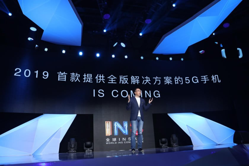 President of Honor smartphones, Mr. George Zhao, on stage during an Honor 5G phone event.