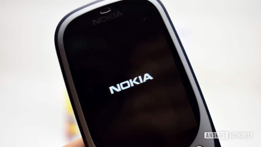 Nokia logo on the Nokia 3310.