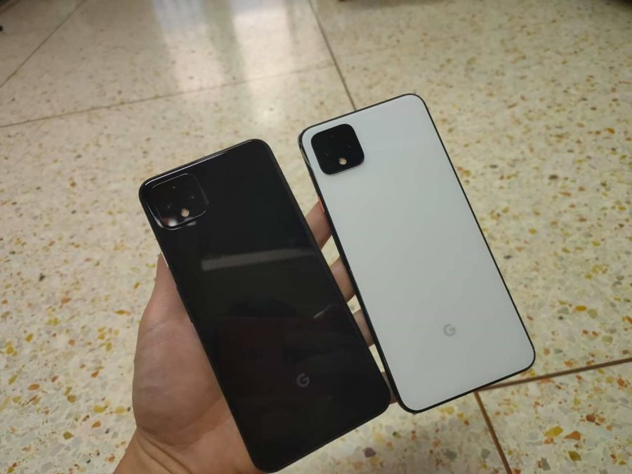 Google Pixel 4 XL white and black leak