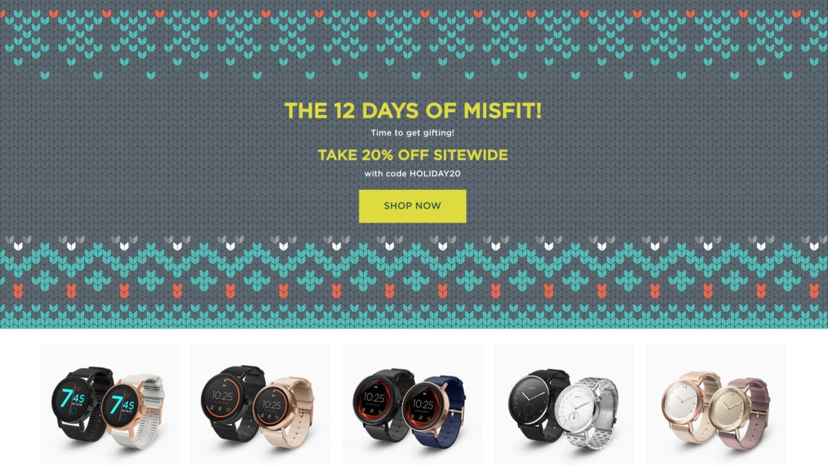 Misfit holiday sale